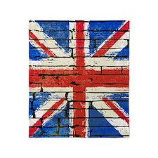 Grunge British Flag Throw Blanket
