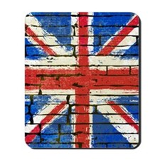 Grunge British Flag Mousepad