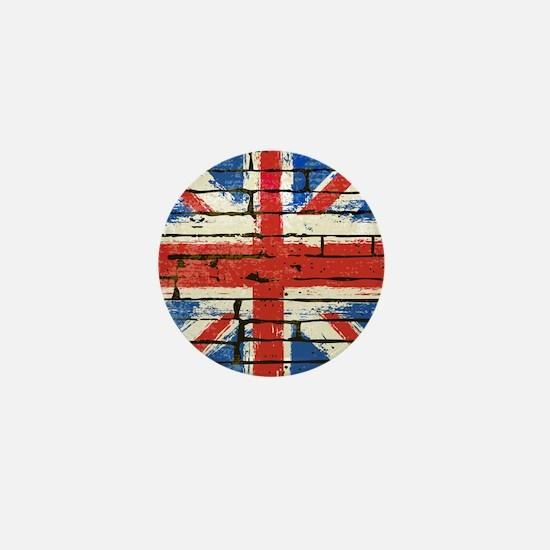 Grunge British Flag Mini Button