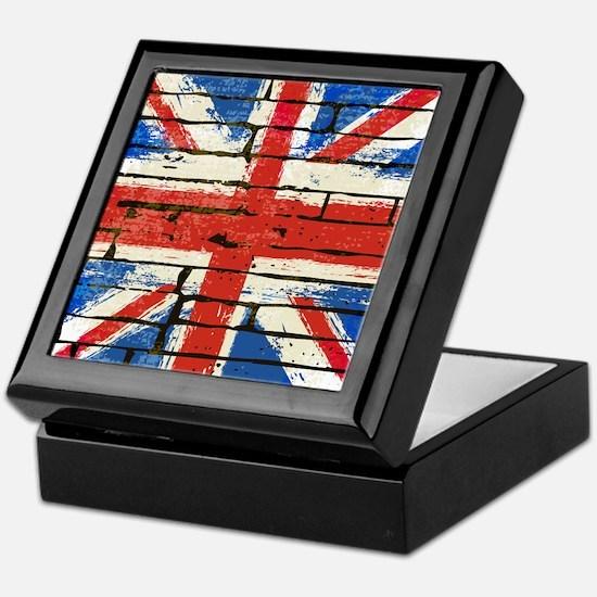 Grunge British Flag Keepsake Box