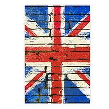 Grunge British Flag Postcards (Package of 8)