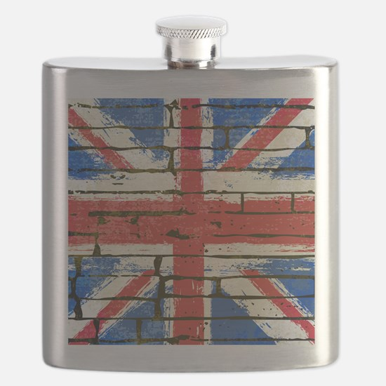Grunge British Flag Flask
