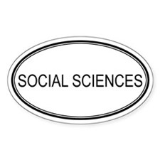 SOCIAL SCIENCES Oval Decal