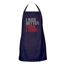 I kiss better than I cook Apron (dark)