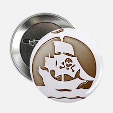"Pirate Ship Halloween 2.25"" Button"