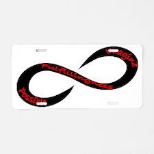 Infinity Black Aluminum License Plate