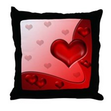 Throw Pillow Hearts Red 1