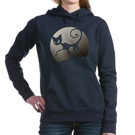 Halloween Scary Cat Hooded Sweatshirt