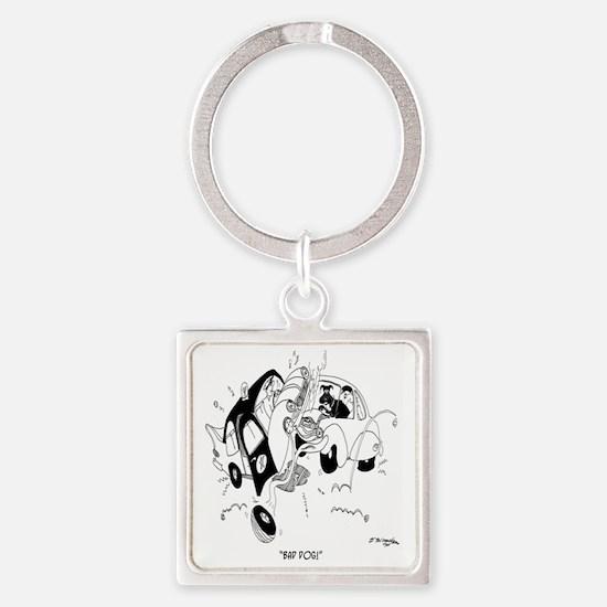 Bad Dog! Square Keychain