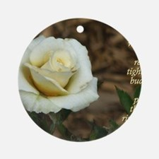 Anais Nin Quote - Blossom Round Ornament