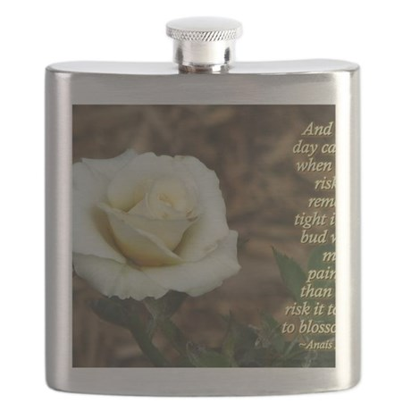 Anais Nin Quote - Blossom Flask
