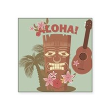 "Vintage Hawaiian Square Sticker 3"" x 3"""