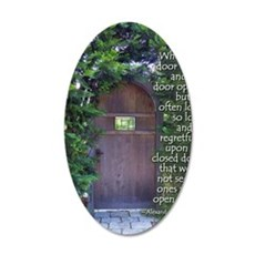 When One Door Closes 35x21 Oval Wall Decal