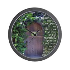 When One Door Closes Wall Clock