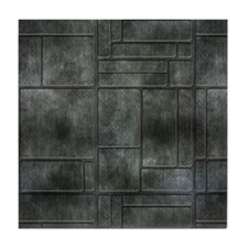 Industrial Grey Metal Tile Coaster