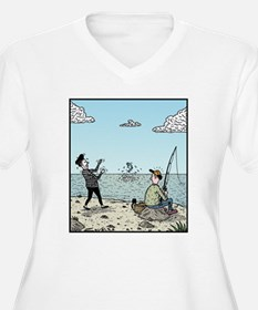 Mime fishing Plus Size T-Shirt