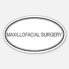 MAXILLOFACIAL SURGERY Oval Decal
