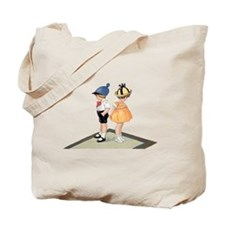 Cute boy and girl Retro img Tote Bag
