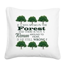 Forest Humor Square Canvas Pillow