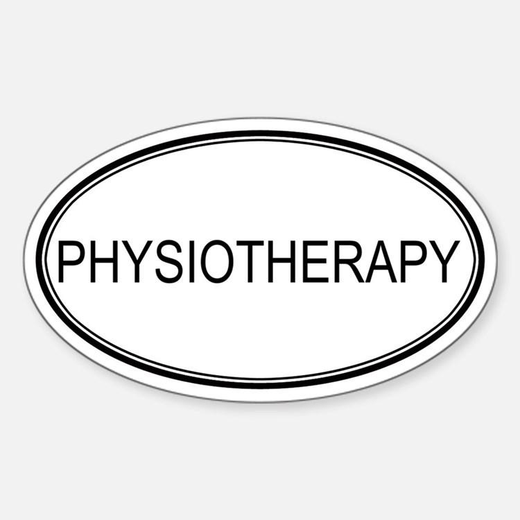 PHYSIOTHERAPY Oval Decal