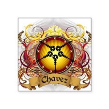 "Chavez Family Crest Square Sticker 3"" x 3"""