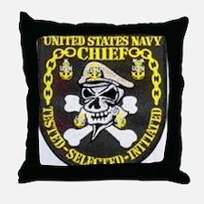 CPO, SCPO and MCPO Throw Pillow