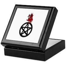 Red Dragon On Pentacle Keepsake Box