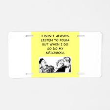 polka Aluminum License Plate