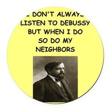 debussy Round Car Magnet