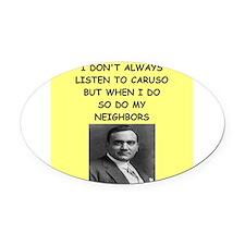caruso Oval Car Magnet