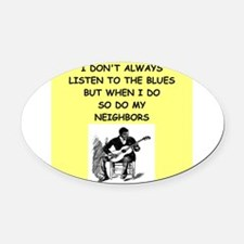 the blues Oval Car Magnet