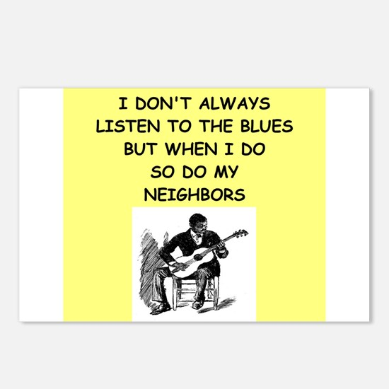 the blues Postcards (Package of 8)