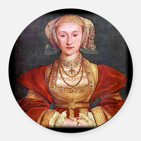 Anne of Cleves Round Car Magnet