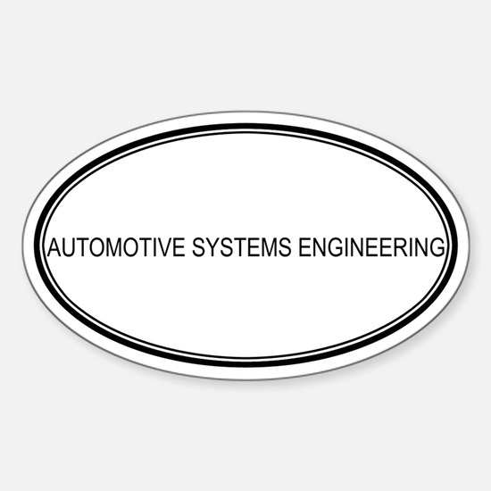 AUTOMOTIVE SYSTEMS ENGINEERIN Oval Decal