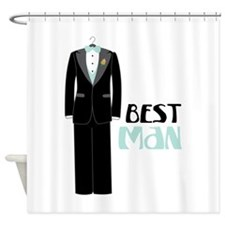 BEST MAN TUXEDO Shower Curtain