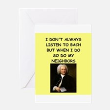bach Greeting Cards