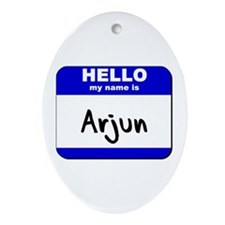 hello my name is arjun  Oval Ornament