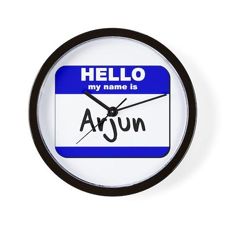 hello my name is arjun Wall Clock