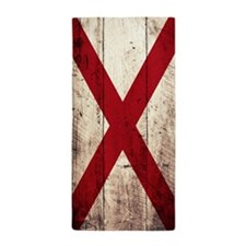 Wooden Alabama Flag1 Beach Towel
