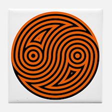 Yin Yang 08 Tile Coaster