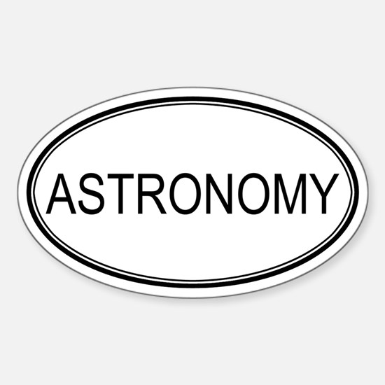 ASTRONOMY Oval Decal