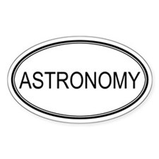 ASTRONOMY Oval Stickers