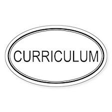 CURRICULUM Oval Decal