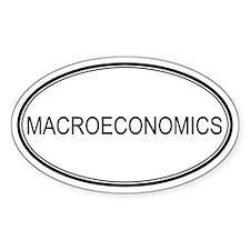 MACROECONOMICS Oval Decal