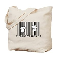 Captured By Consumerism UPC Barcode Prison Tote Ba