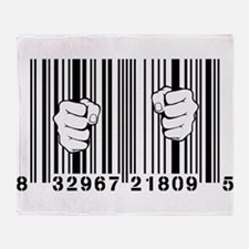 Captured By Consumerism UPC Barcode Prison Throw B