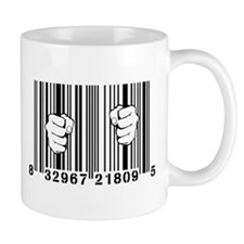 Captured By Consumerism UPC Barcode Prison Mugs