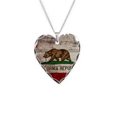 Wooden California Flag3 Necklace