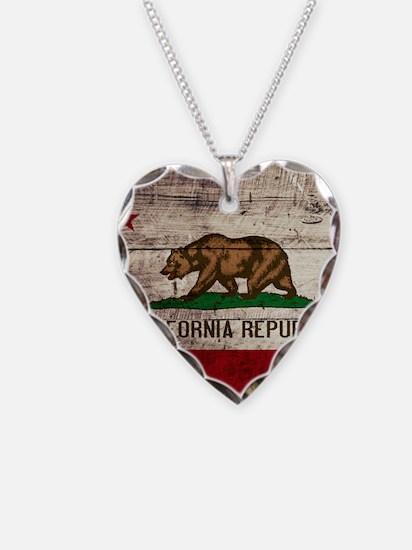 Wooden California Flag3 Necklace