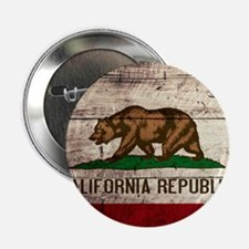 """Wooden California Flag3 2.25"""" Button (10 pack)"""